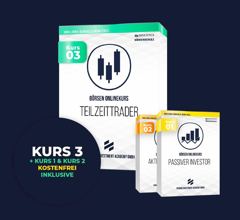 Richitg Traden lernen mit dem Börsen Onlinekurs 3 - der Teilzeittrader - der Sparing Investment Academy GmbH